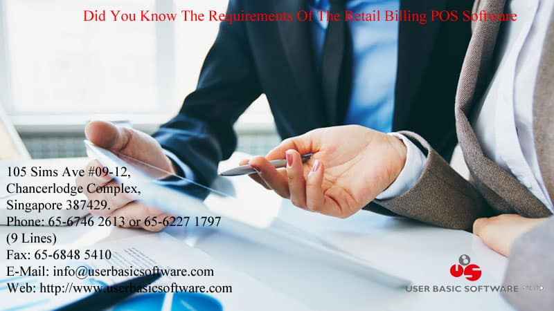 Did You Know The Requirements Of The Retail Billing POS Software