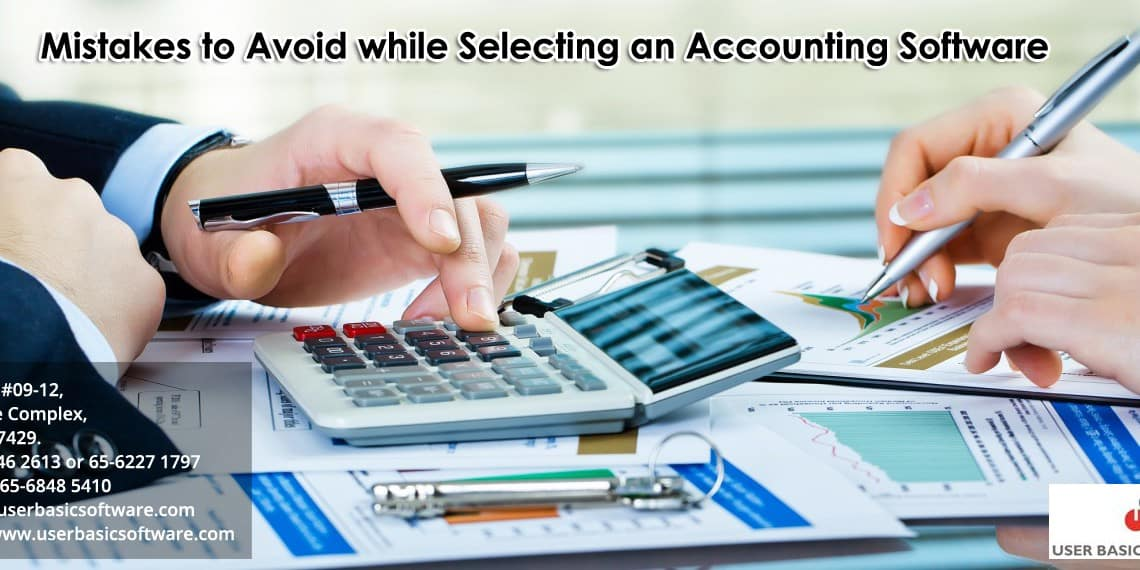 Mistakes to Avoid while Selecting an Accounting Software