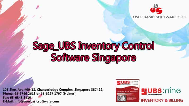 Sage_UBS Inventory Control Software Singapore