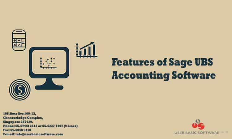 Features of Sage UBS Accounting Software