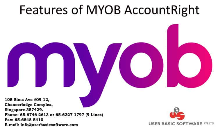 Features of Myob software