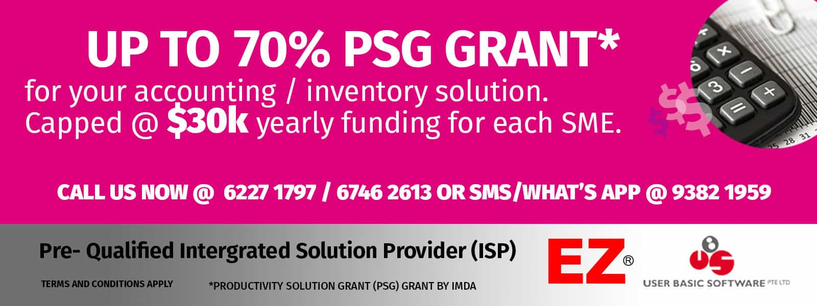 psg grant software singapore